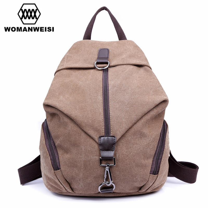 WOMANWEISI Brand 2017 Creative Design Fashion Canvas Women Travel Backpack Vintage Womens Backpack Female Bagpack Mochila