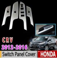 for Honda CRV CR V 2012 2013 2014 2015 2016 Chrome Switch Panel Cover Luxury High Quality Accessories Car Sticker Sticker