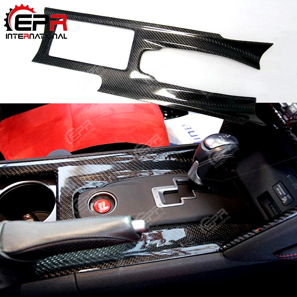 Pour Nissan R35 RTM Tuning Fiber De Carbone Center Console Couverture (RHD) voiture Kit Converti OEM Shifter Console Couverture Corps Kit