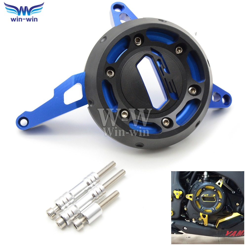 Motorcycle CNC Aluminum Engine Stator Cover Case Slider Protector For yamaha yzf-r3 yzf r3 YZF-R3 YZF R3 2015 2016 15 16  motorcycle cnc aluminium engine protective protect cover right side for yamaha yzf r3 yzf r3 r3 15 16 2015 2016