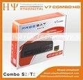 Genuino 1080 P Full HD V7 combo DVB-S2/T2 free to air Receptor de Satélite caja con PowerVu y Cccam
