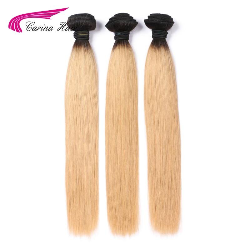 Carina Ombre Peruanska kosa T1B / 27 # kosa potke 1kom Ombre boja - Ljudska kosa (za crnu)