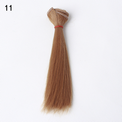 1pcs hair for doll 15cm*100CM short straight hair for 1/3 1/4 BJD doll wig Black khaki brown coffee