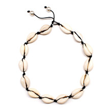 Summer Beach Handmade Shell Clavicle Necklace Women Fashion Rope Pearl Statement Chain Choker Necklace Jewelry retro women s exaggeration mixing crystal ball necklace pearl turquoises short clavicle chain statement choker necklace jewelry