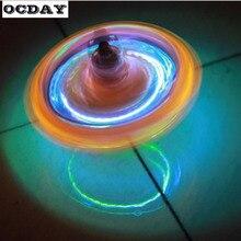 OCDAYแม่เหล็กGyroล้ออยู่ไม่สุขความเครียดบรรเทาของเล่นพลาสติกหมุนGyroscope GyroไฟLEDปั่นของเล่นเมจิกปั่นด้านบนร้อน