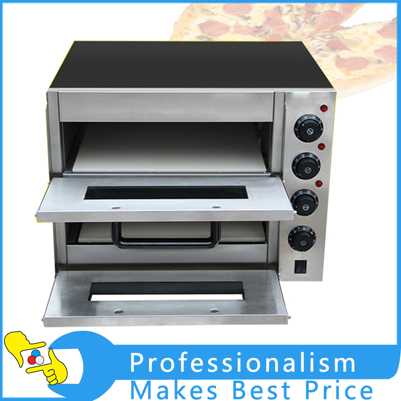 Commercial Double Electric Pizza Oven Pizza Bread Making Machine 220V 3KW pizza bread skin bread roll skin spring roll machine making machine with one mould