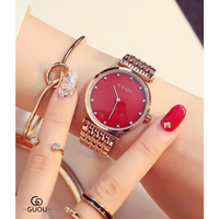 Fashion Rose Gold Stainless Steel Women's Watches Luxury Ladies Diamond Wrist Watch For Women Reloj Mujer Exquisite Female Clock