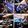 Alto Grau de Cristal Do Floco De Neve Pingente de Carro Espelho Retrovisor Do Carro Ornamento De Luxo Pendurado Acessórios de Decoração Interior Do Carro