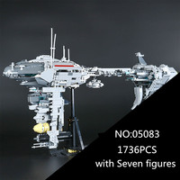 05083 1736Pcs Star MOC Series The Nebulon B Medical Frigate Set Children Educational Building Blocks Bricks
