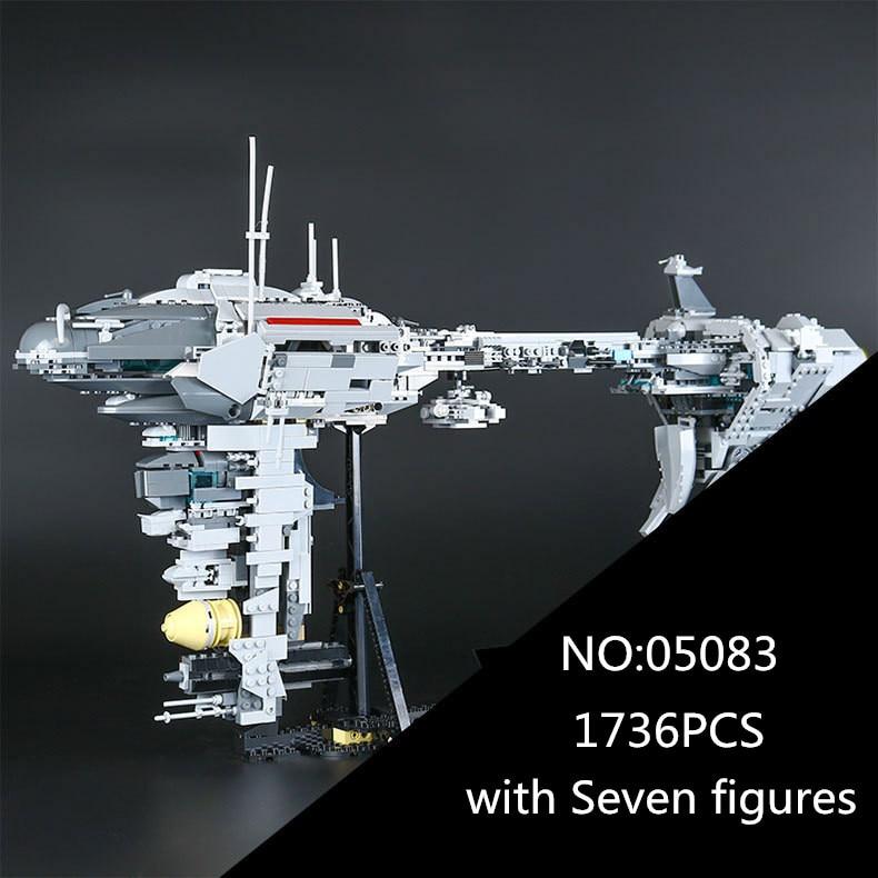 05083 1736Pcs Star MOC Series The Nebulon-B Medical Frigate Set Children Educational Building Blocks Bricks Toys Gifts War