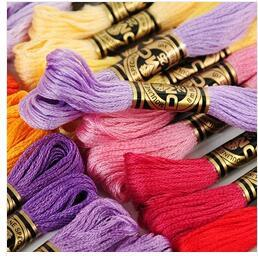 Image 2 - oneroom 100% Pure Cotton Total 100 Pieces Original French DMC Thread Embroidery Cross Stitch Floss Yarn Thread Fast Shipping