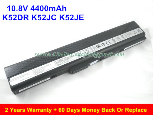 Original K52F Battery For ASUS K52DR K52JC K52JE A32-K52 Laptop 4400mAh new laptop battery for asus k40 x8a oem 4400mah 11 1v