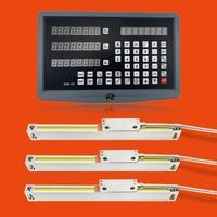 High Precision Machine Accessories Digital Readout 3 Axis Set/Kit and 3 PCS 5u Linear Optical Ruler Optical Line Linear Encoder