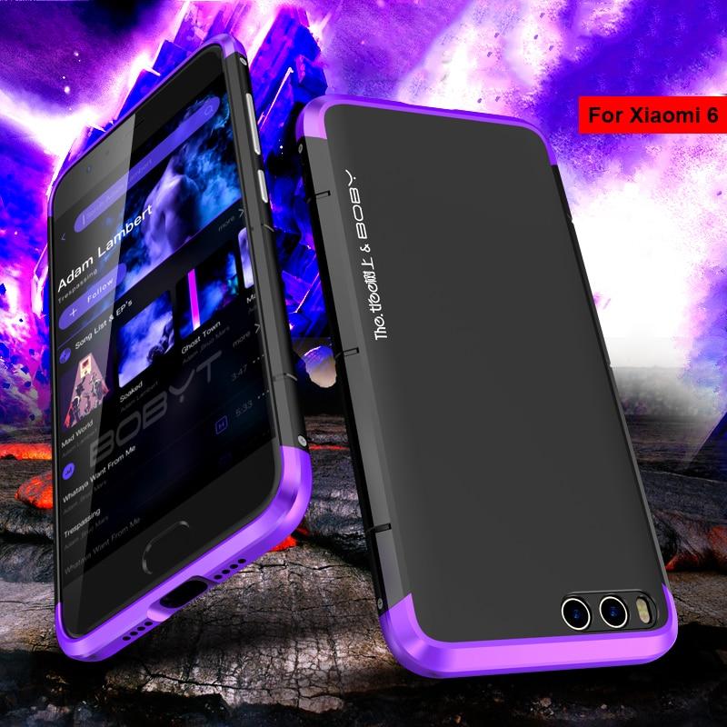 Phone case for xiaomi mi6 5.15 bumper BOBYT Original Aluminum Metal Frame + Hard PC back cover protective Case for xiaomi mi 6