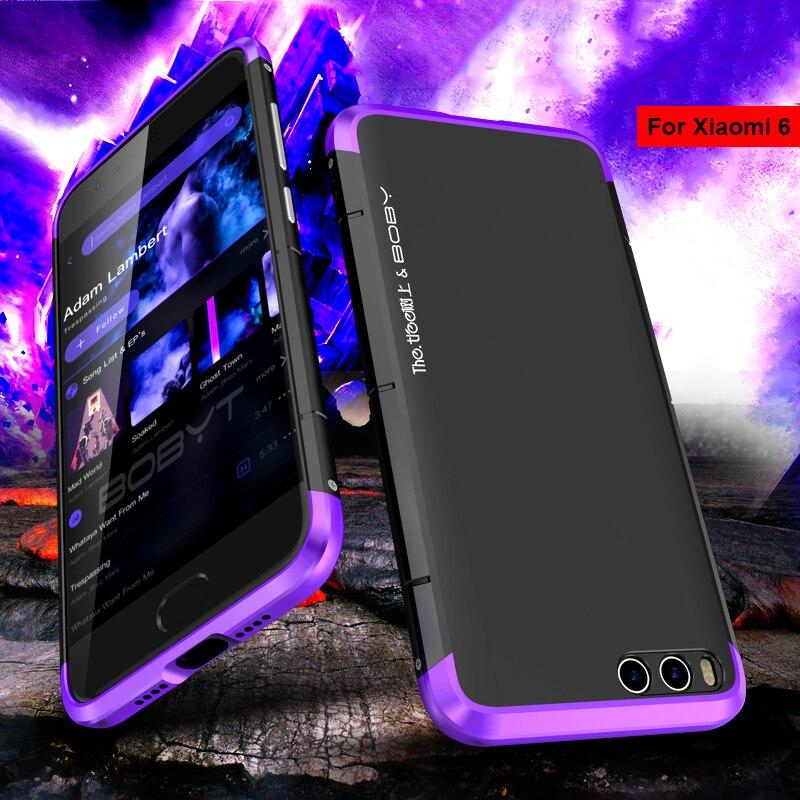 Téléphone Cas Pour Xiao mi mi 6 5.15 Pare-chocs BOBYT D'origine Alu mi num Métal Cadre + Dur PC retour Housse De Protection Pour Xiao mi mi 6