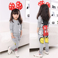 Autumn Winter Girls Clothes Outfit Kids Cartoon Minnie Mouse Cotton Set Girls Long Sleeve T-shirt+Harem Pant Clothing Set 81013