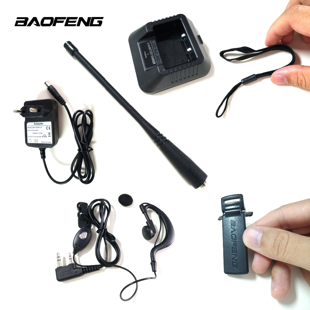 Baofeng 100% Original New Accessories Lanyard Antenna Back Clip Charger Station Earphone For Baofeng Uv-5r 5re 5ra Walkie Talkie