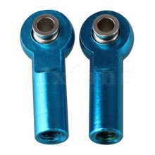 Mxfans 2PCS Blue RC 1:8 & 1:10 Car Aluminum M4 Link Rod End Ball Joint Upgrade D10043