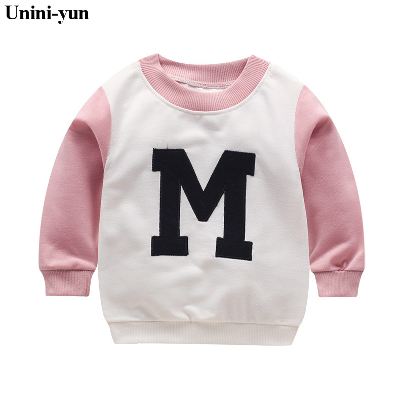 [Unini-yun]2018 Spring New Arrival Baby Girls boys girls terry sweater cartoon long sleeve T-shirt jerseys baby kids clothes