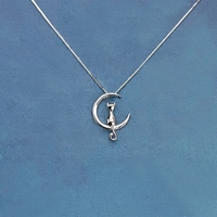 Real Pure 925 Sterling Silver Cat Necklaces Pendant For Women Hot Fashion Sterling Silver Jewelry