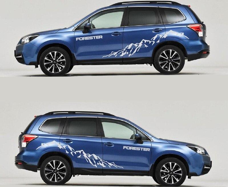 Haute Qualité 2 pcs Car Styling Étanche Autocollants Decal Couverture pour Subaru Forester SUV Universel Moto Décoration