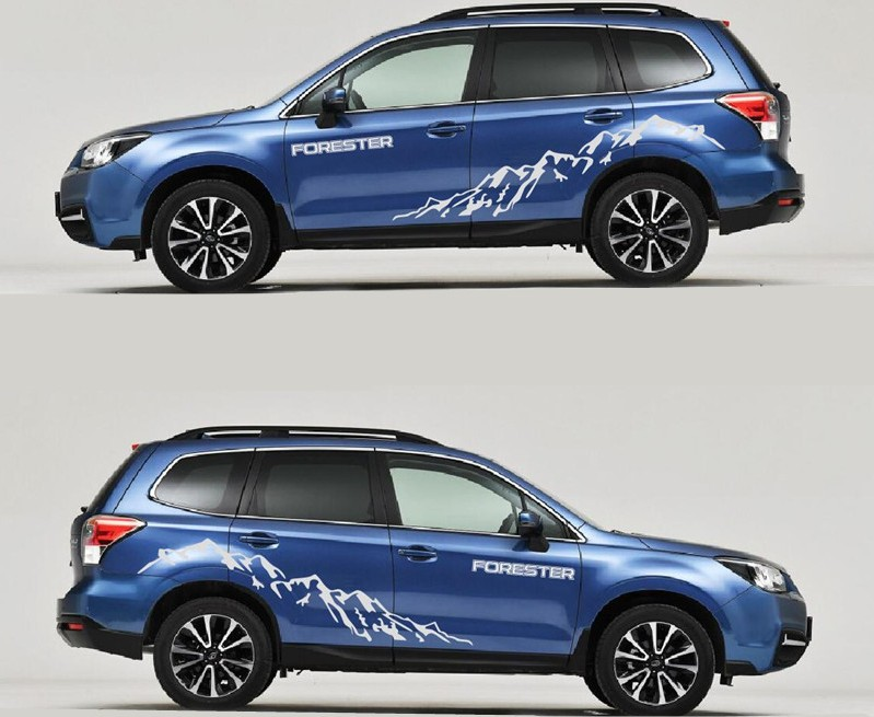 High Quality 2PCS Car Styling Waterproof Stickers Cover Decal for Subaru Forester SUV Universal Motorcycle Decoration