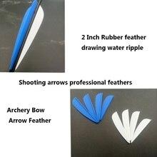 50 adet 2 inç kauçuk tüy 2 renk okçuluk plastik Fletch Vanes karışık karbon ok okçuluk avcılık çekim aksesuarı