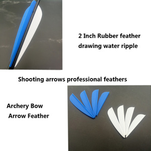 Image 1 - 50 pièces 2icnh caoutchouc plume 2 couleurs tir à larc en plastique Fletch Vanes pour mixte carbone flèche tir à larc chasse tir à larc accessoire