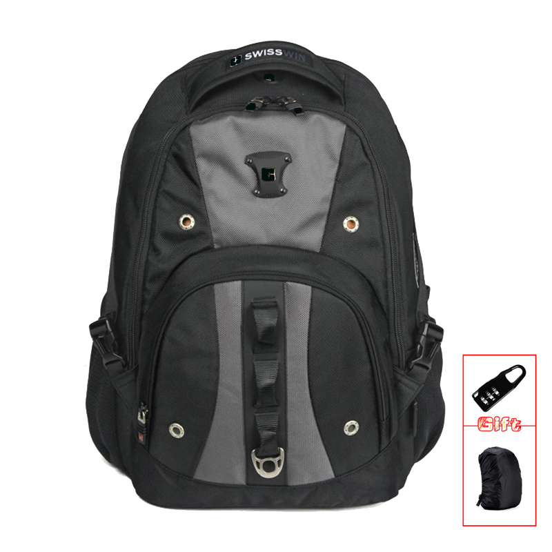 Brand Mens Backpack Bag Fashion Casual Male Daypack Quality 15 Laptop Music For Students Mochila Escolar SW9206 lowepro protactic 450 aw backpack rain professional slr for two cameras bag shoulder camera bag dslr 15 inch laptop