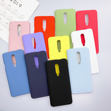 Matte Case For OnePlus 7 Pro Soft Silicone Cover 7Pro Shell Shockproof Korean Fashion Plain Yellow Pink Blue Green