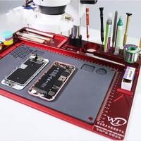 Multifunctional Aluminum Alloy Pad for Microscope High Heat Resistant Maintenance Mat For Phone Repair Platform