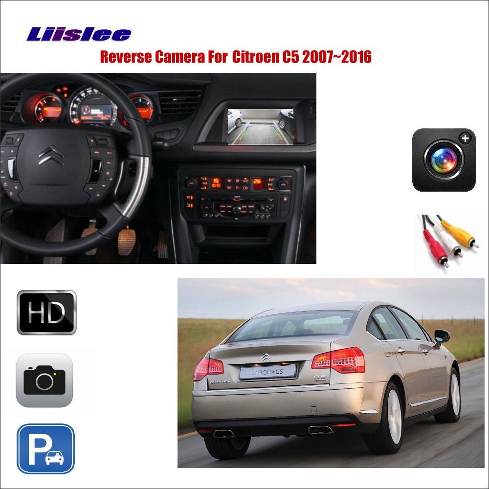 Liislee Car Reverse Rear View Camera For Citroen C5 2007~2016 / Compatible  With Original
