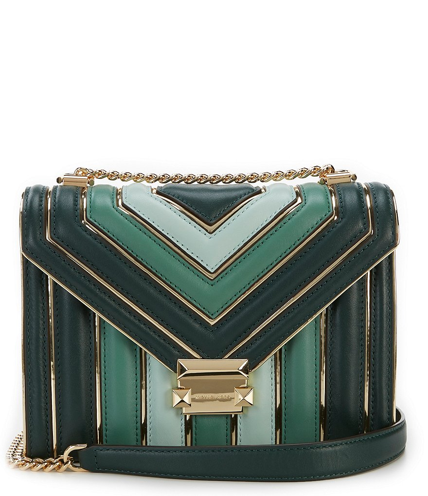 Michael Kors Whitney TriColor Quilted Leather Shoulder Bag (Racing Green)  Luxury Handbags For Women Bags Designer by MK