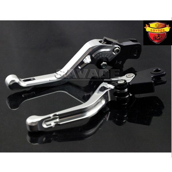 For BMW K1600 GT/GTL 2011-2015 K1300 R/S/GT 2009-2015 K1200R 05-08 Silver Motorcycle Adjustable CNC Short Brake Clutch Levers adjustable billet long folding brake clutch levers for bmw k1600 gt gtl 11 14 12 13 k1300 k1200 r s r1200 r rt s st gs 04 14 05