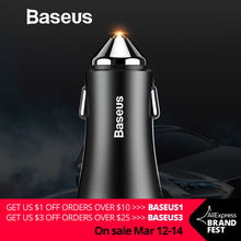 Baseus Dual USB Car Charger For iPhone XS Samsung Mobile Phone Charger Car Cigar Lighter Tablet GPS Travel Adapter Phone Charger cheap MEIZU LG Xiaomi Apple ZTE Nokia SONY Motorola Other Blackberry Samsung HTC Lenovo Huawei Universal Baseus Car Charger RoHS FCC CCC ce