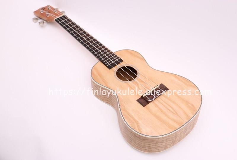Finlay 23 ukulele,Acoustic ukelele with nylon bag,Full Ash wood top/body hawaii guitars,FU-S81,Concert ukelele guitarra