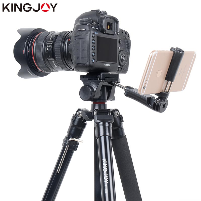KINGJOY Official BT 158 Light Weight Tripod For Camera With Selfie Stick Holder Tripod For Phone Gorillapod Tripode For Mobile in Live Tripods from Consumer Electronics