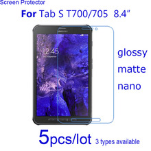 5pcs Clear/Matte/Nano Protective Films for Samsung Tablet Tab S 8.4 T700 T705/10.5 T800 T805 10.5″ Screen Protector Guard Covers