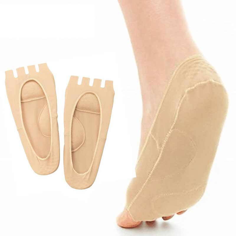 2Pcs=1Pair Arch Support Orthosis Toes Separators Pedicure Sock Valgus Corrector Massage Flatfoot Insoles Foot Socks For Pedicure