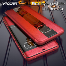 Mate 20 Luxury Genuine Leather Case For Huawei Mate 30 pro Case Mate 20RS Leather Flip Case For Huawei Mate 20 X Protector Cover