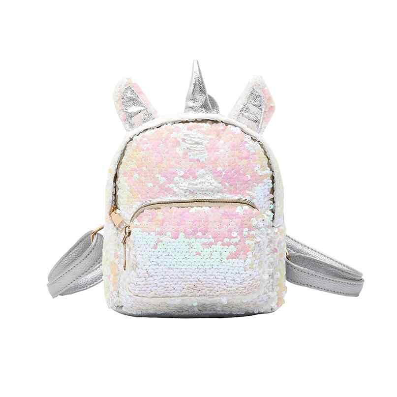Блестки рюкзак милый Единорог уши сумка для женщин Женский туристический рюкзак шикарный яркий рюкзак Mochila Feminina Escolar Новый