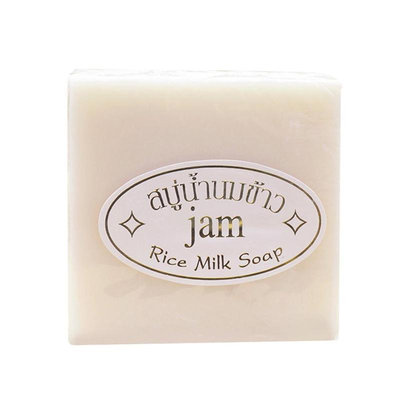 1Pcs Thai Rice Milk Soap Collagen Skin Lightening Handmade Soap Oil Control Whitening Moisturizing Soap