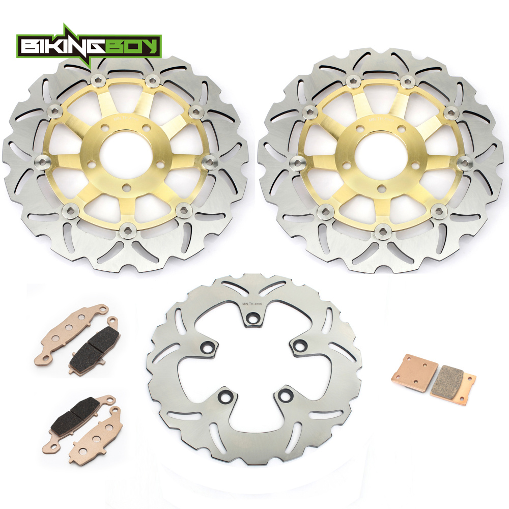 Front Rear Brake Discs Rotors Pads Set for Suzuki GSF 600 Bandit S 00 01 02
