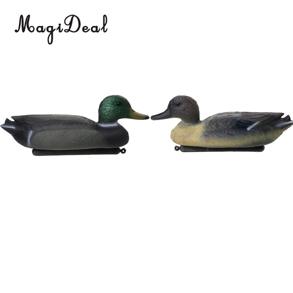 MagiDeal Professional 6 Pcs Hunting Male Duck Decoy With Floating Keel 8
