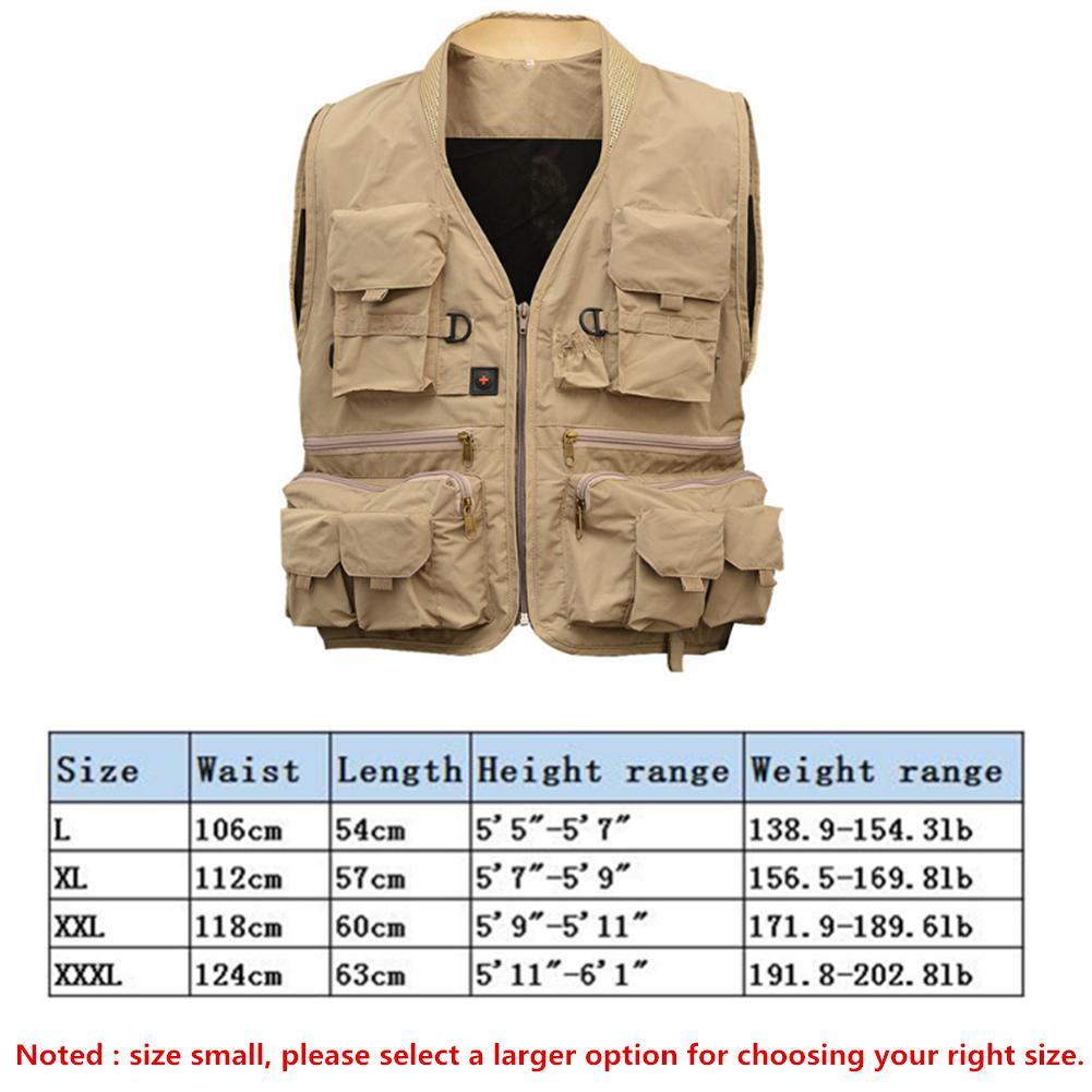 Quick Dry Fishing Vest Korean Style Utility Jacket Breathable Survival Waistcoat