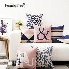 1PCS/Lot Floral Animal Printed Linen Cushion Cover For Sofa Throw Pillow Case Chair Car Seat PillowcasesBJ12 цена в Москве и Питере