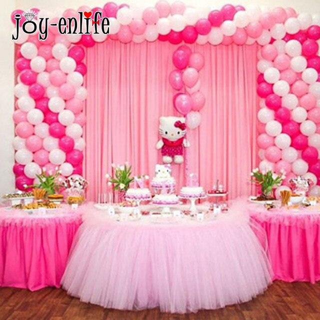 JOY ENLIFE 1pc Tulle Tutu Table Skirt Table Decor Kids Birthday