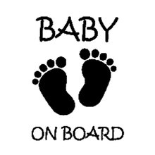 QYPF 9.8CM*13CM Baby On Board Decal Boy Truck Cute Guy Car Stickers Car  Styling