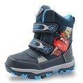Apakowa Invierno Niños Calientes Botas de Nieve Zapatos Niños Moda de Invierno Zapatos Planos Botas de Nieve Botas Zapatos de Niño de Los Cabritos de la historieta con botón