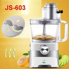 220V/50 Hz  Commercial Lemon Slices Machine JS-603 Electric Fruits Slicer 2.5L Capacity Potato Slices Speed 300r / min 100W